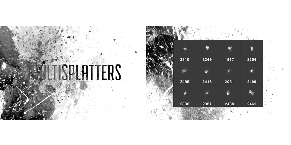 MultiSplatters Photoshop Brushes