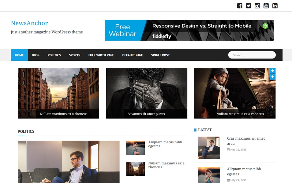 NewsAnchor Responsive WordPress Theme