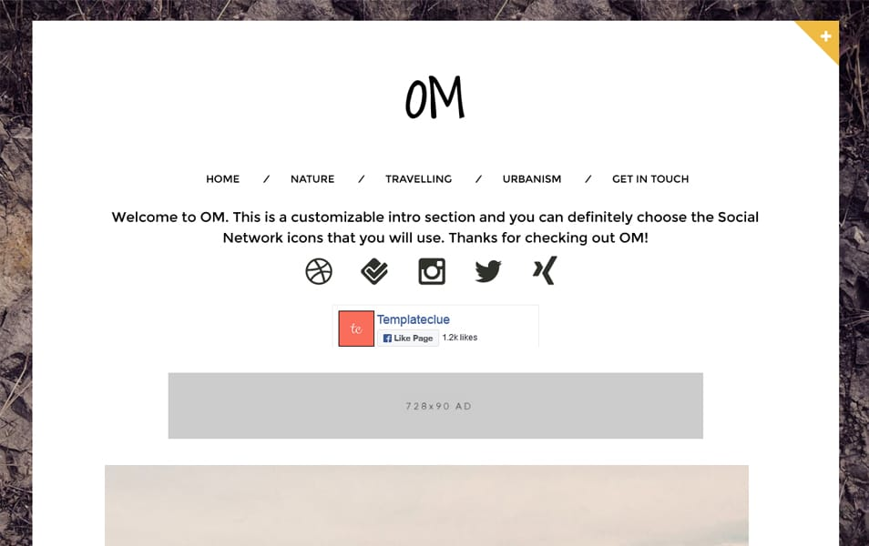 Om Responsive Minimalist Blogger Template