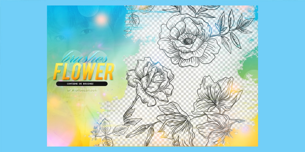 Outline Flowers Brushes