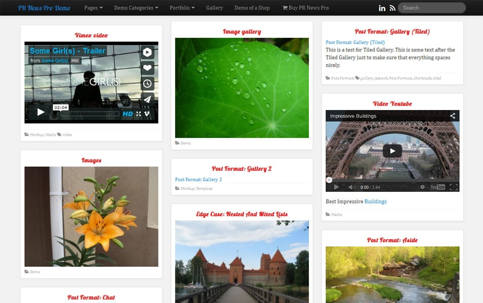 PR News WordPress theme