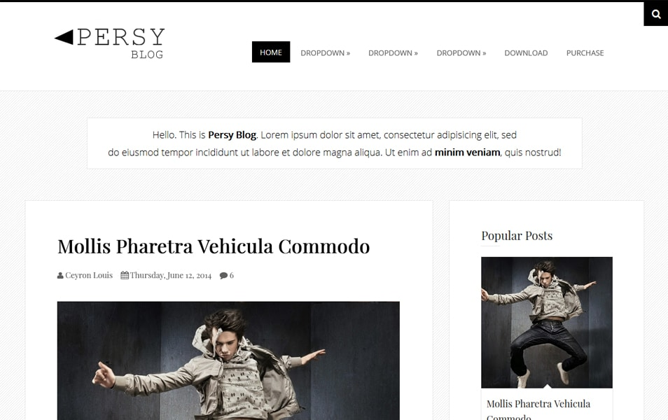 Persy Minimalist Blogger Template