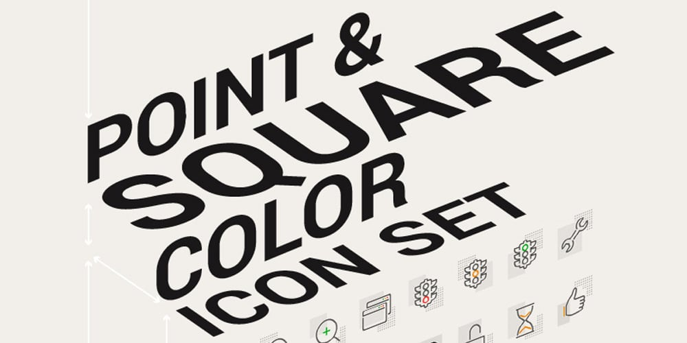 Point and Square Color Icons