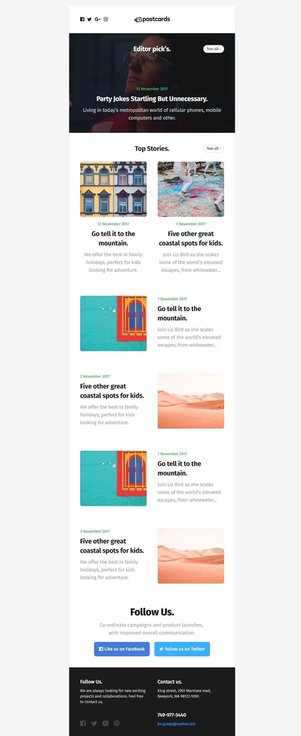 Ready-To-Use HTML Email Newsletter Template