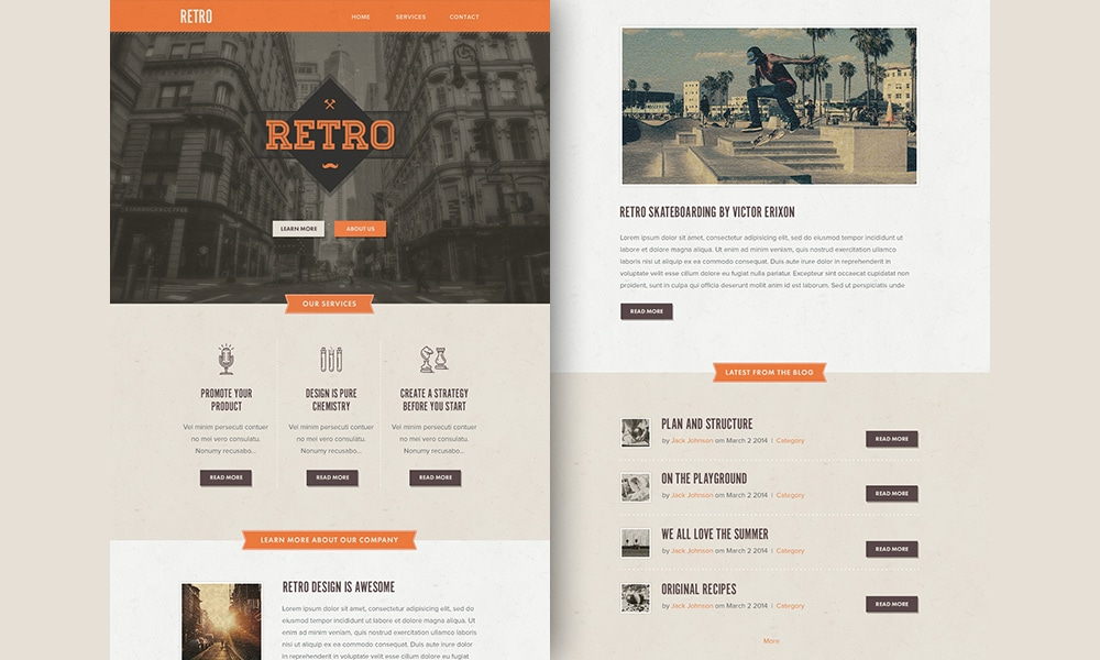 Retro Responsive Email Newsletter