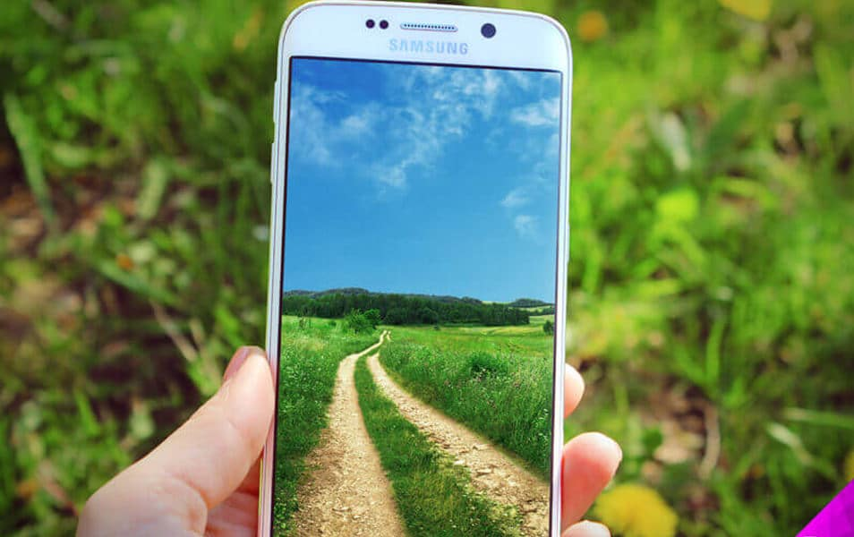 Samsung S6 Edge Nature Mockup