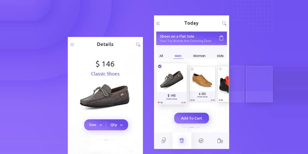 Shop Mobile App UI PSD