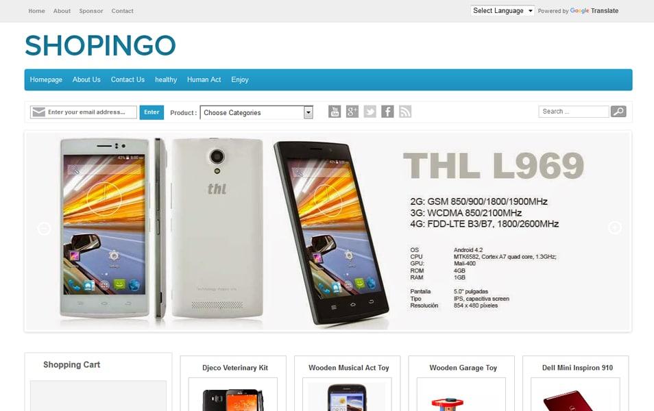 Shopingo Responsive Blogger Template