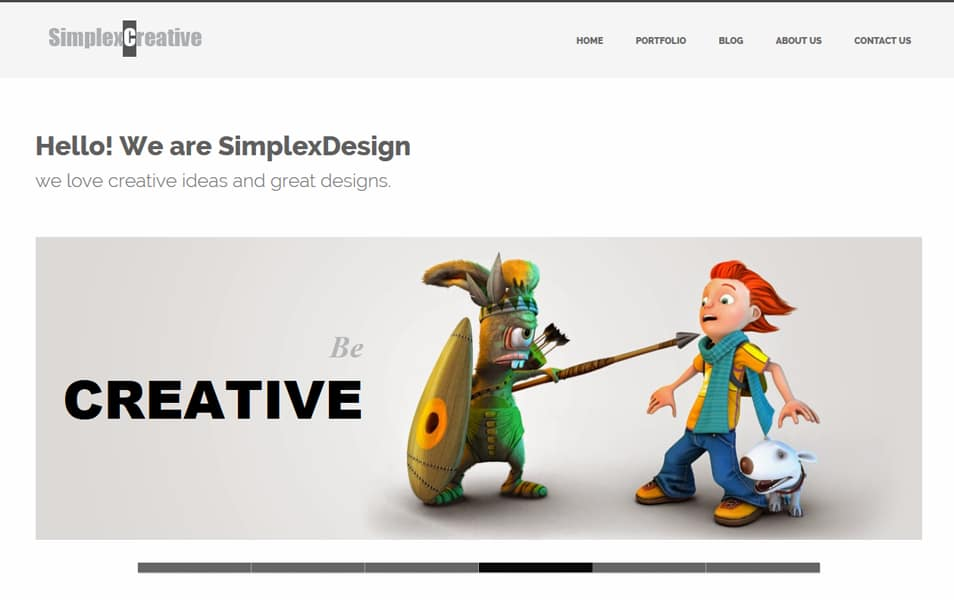 SimplexCreative Responsive Business Blogger Template
