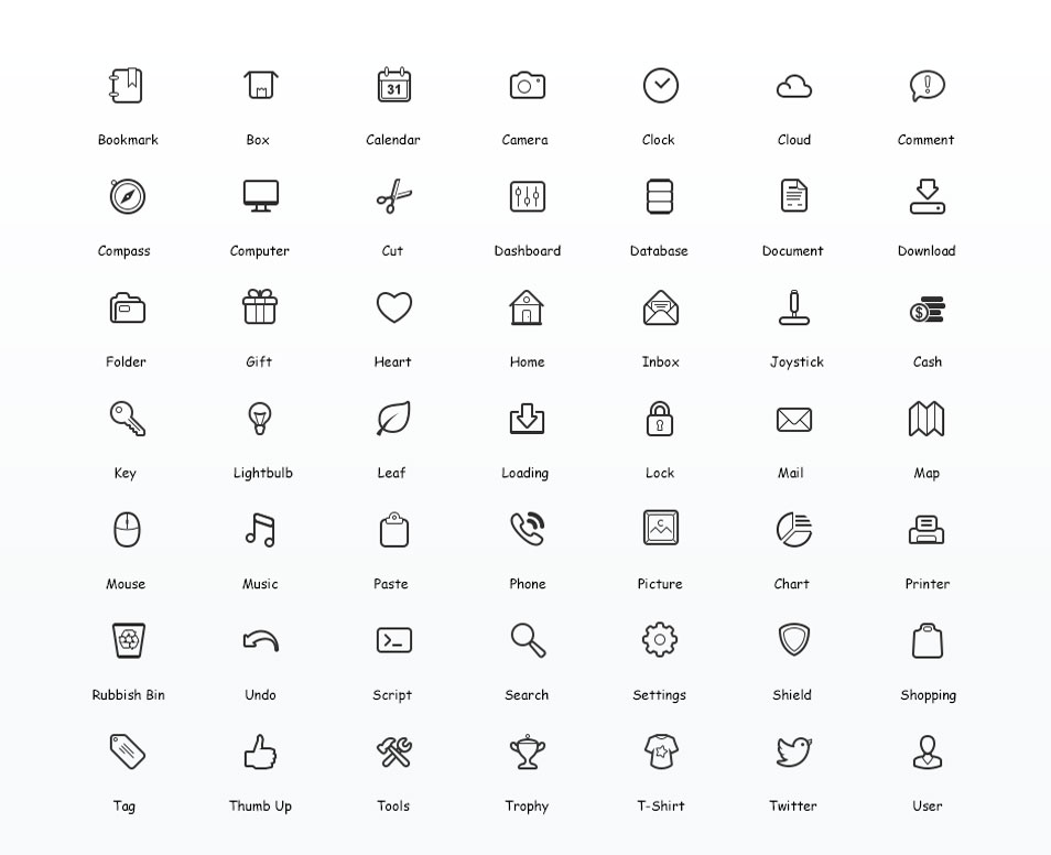 Simplicity - Free Vector Icon Set