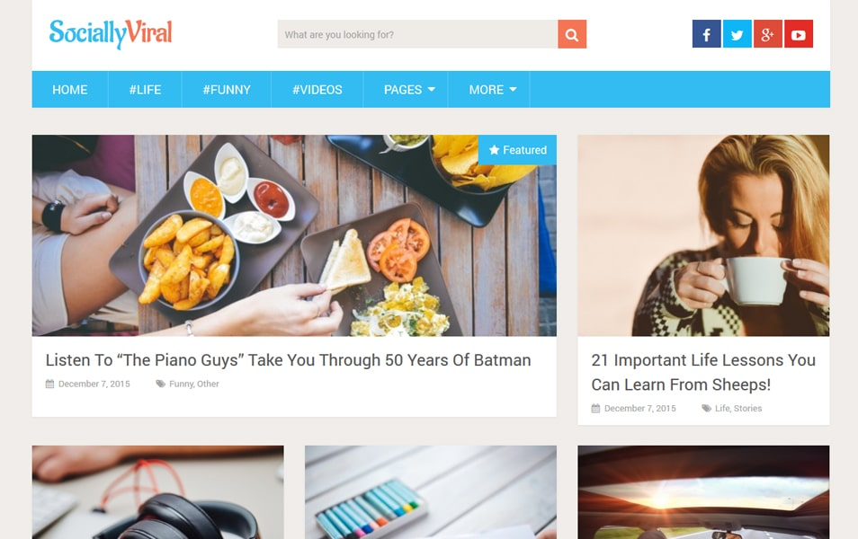 SociallyViral Responsive WordPress Theme