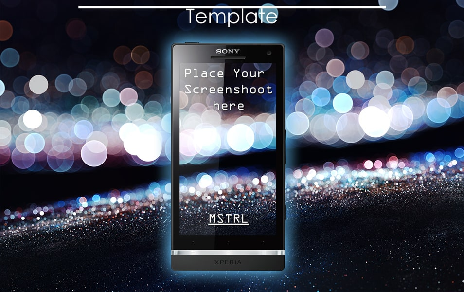 Sony Xperia S Template