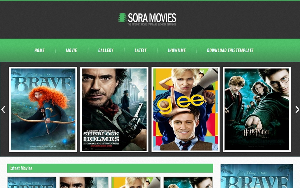 Sora Movies Responsive Entertainment Blogger Template