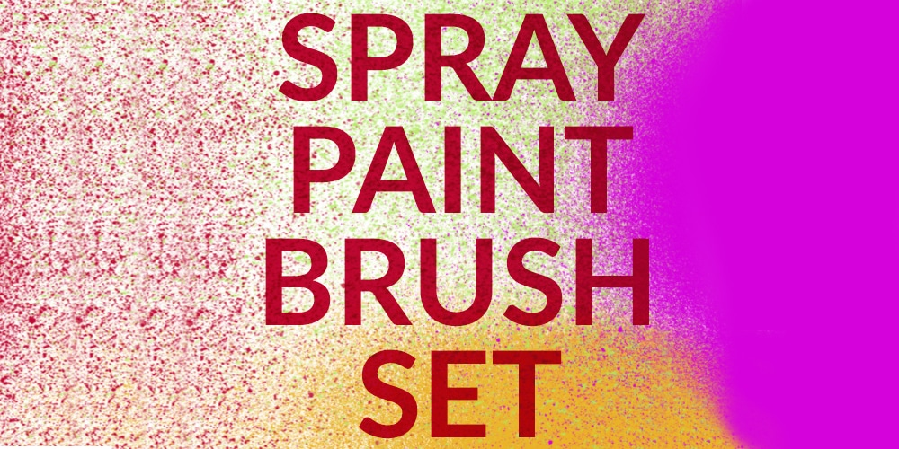 Spray Paint Photoshop Brush Set