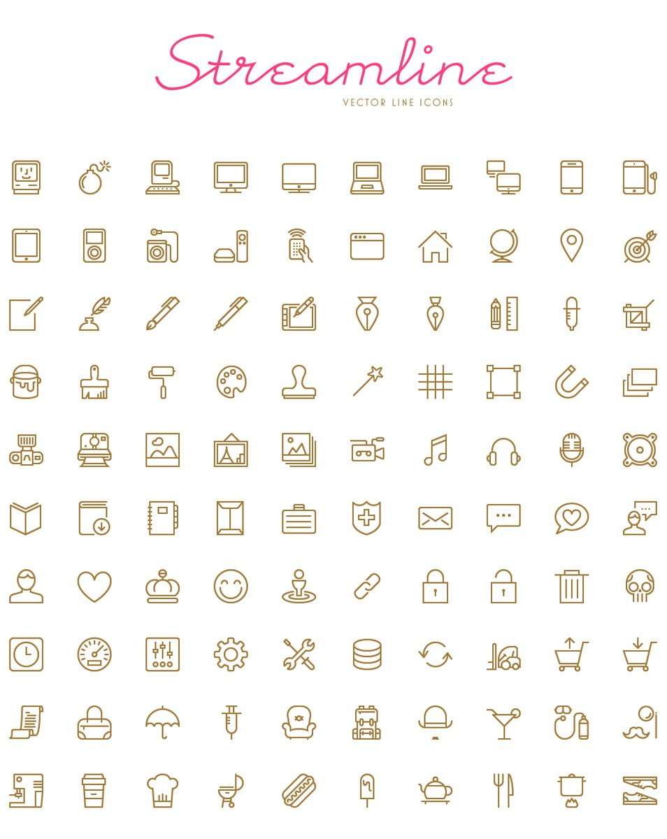 Streamline - 100 Free Vector Icons