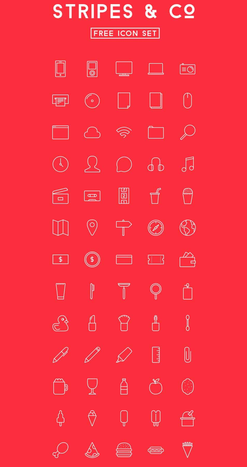 Stripes & Co – Free icon Set