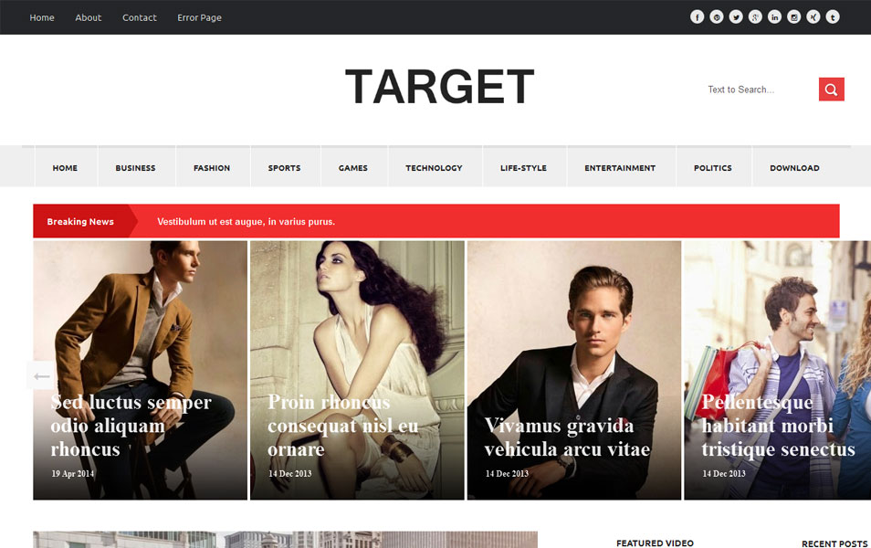 Target Responsive Magazine Blogger Template