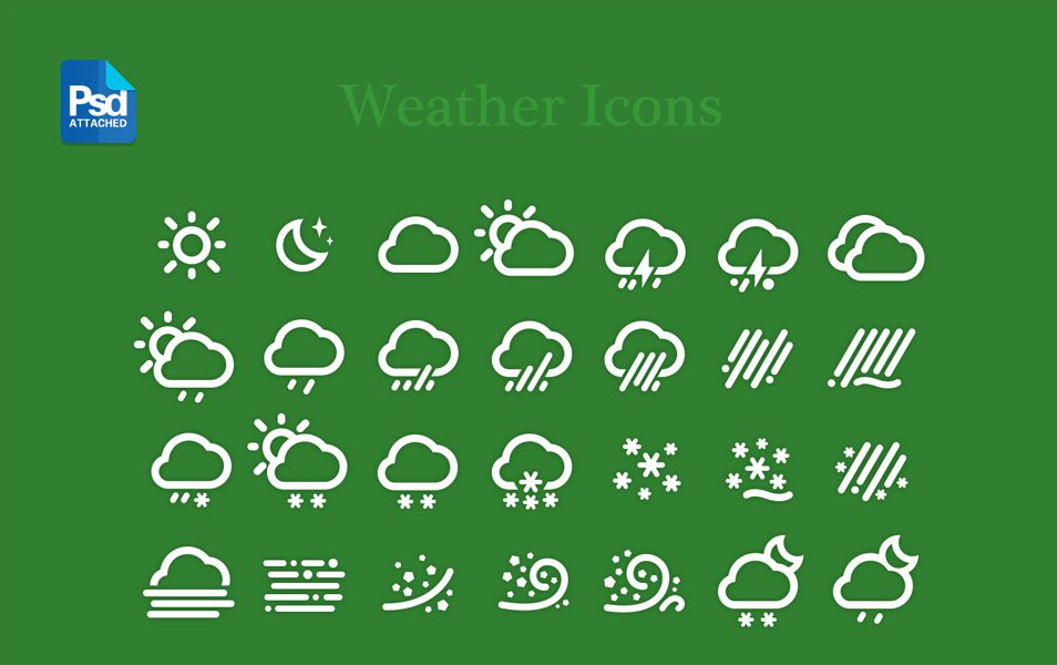 Weather Icons PSD