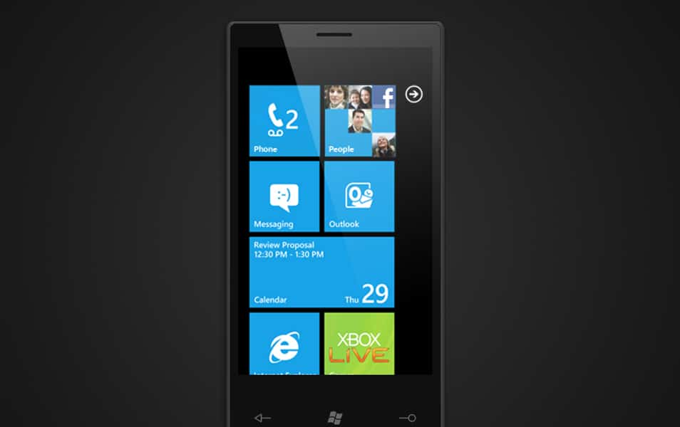 Windows Phone 7 PSD