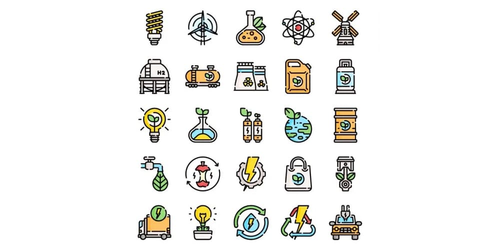 free sustainable energy icons