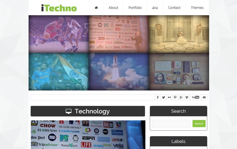 iTechno Professional Blogger Template