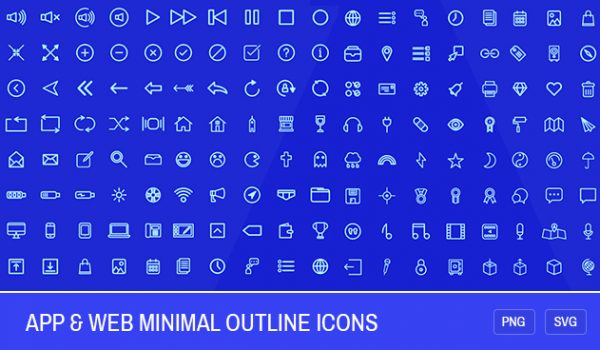 200 App & Web Minimal Outline Icons