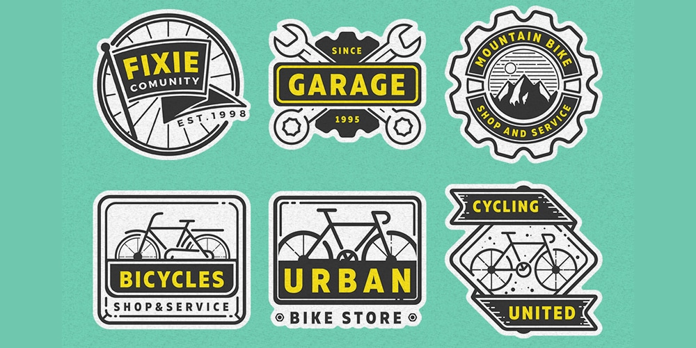 Bike Garage Logos and Badges