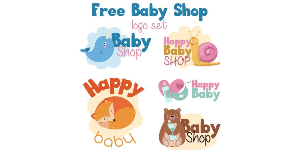 Free Baby Shop Vector Logo