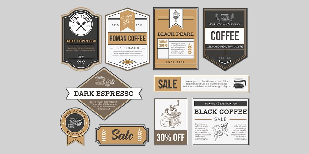 Free Badges and Labels Template