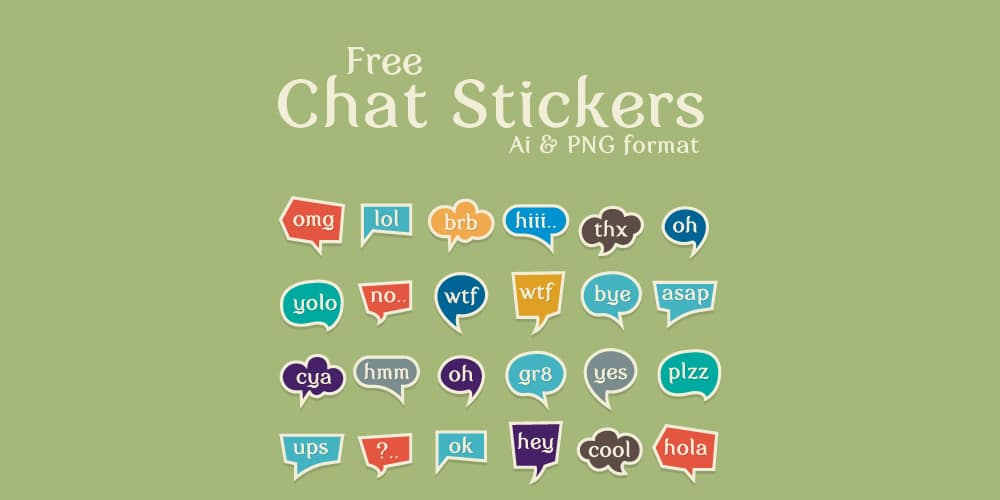 Free Chat Stickers