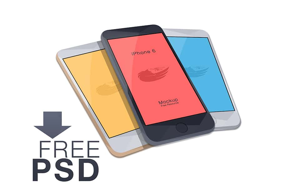 Free Vector iPhone 6 Mockup, 4.7-inch, PSD