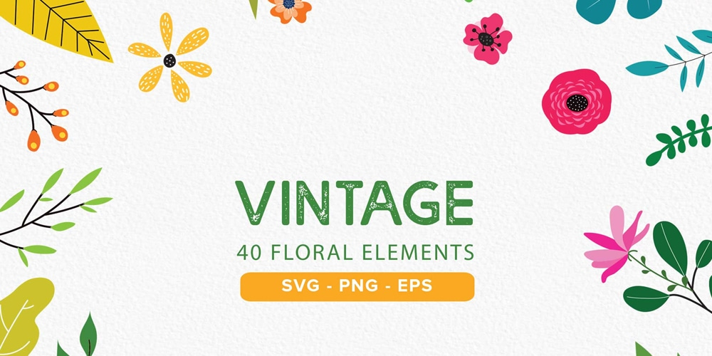 Free Vintage Floral Cliparts
