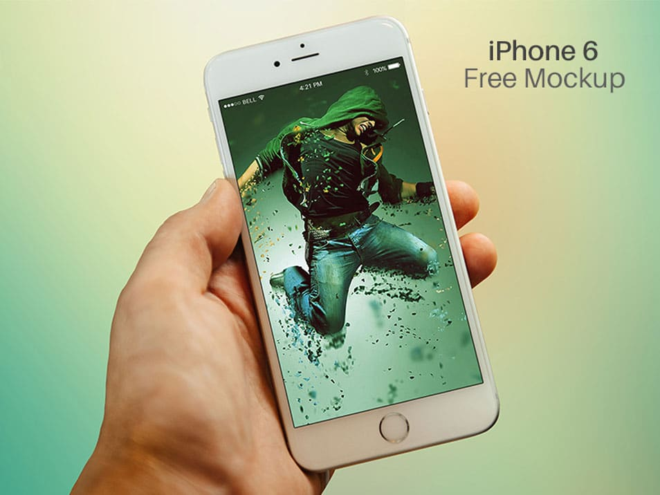 Free iPhone 6 Mockup PSD