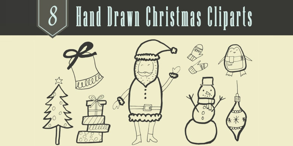 Hand Drawn Christmas Cliparts