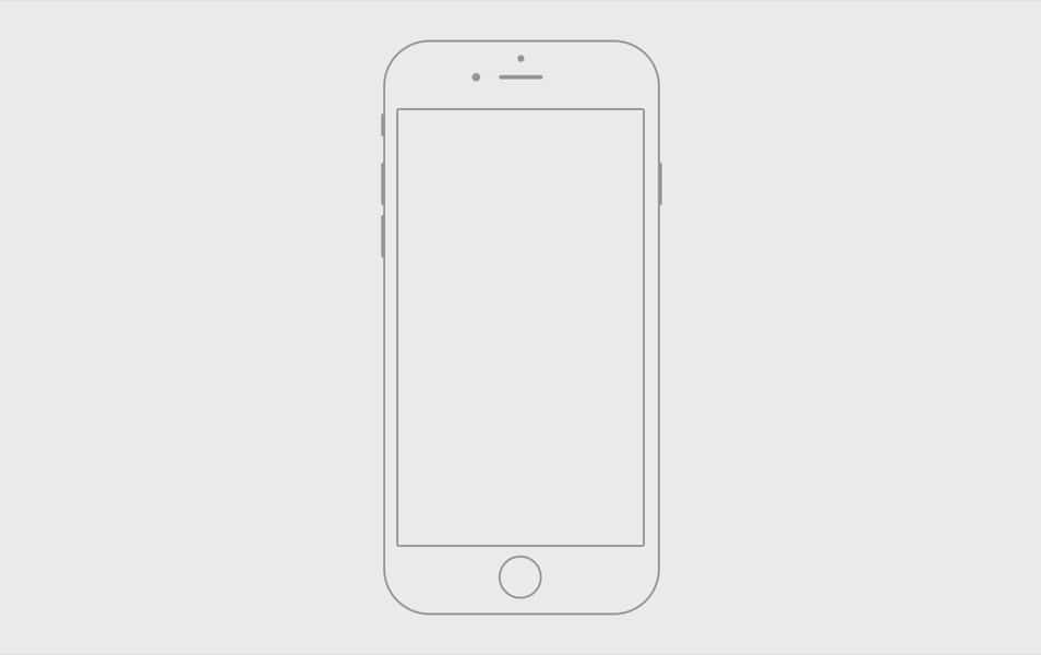 Handmade iPhone 6 wireframe