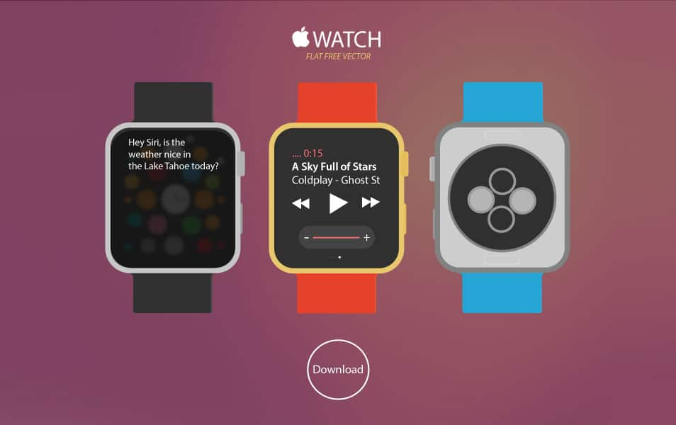 New Apple WATCH Free Vector Download
