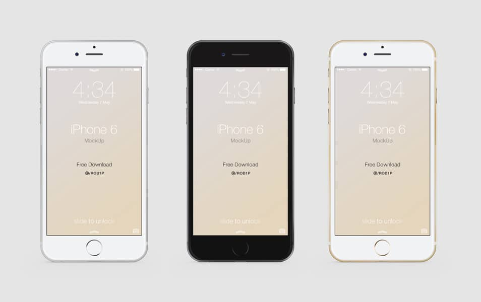 Realistic iPhone 6 mock-up PSD