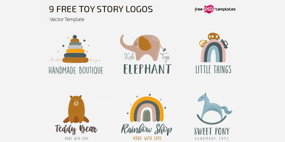 Toy Story Logo Template Set
