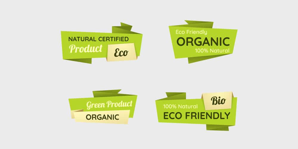 Vector Eco Labels