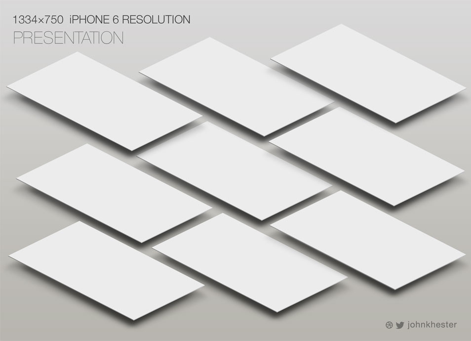 iPhone 6 - Perspective App Screen Mockup