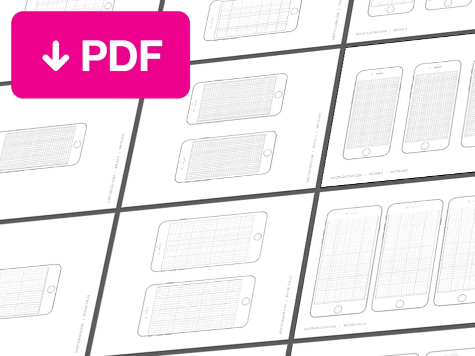 iPhone 6 and iPhone 6 Plus Sketch Templates