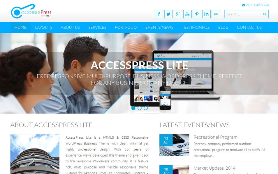 Accesspress Lite Free Photography WordPress Theme