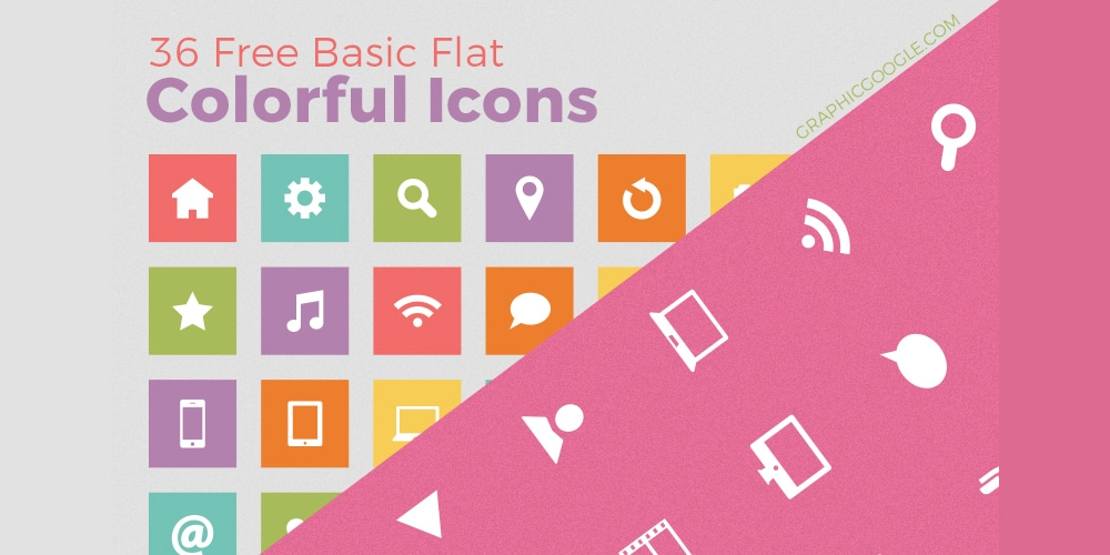 Free Basic Flat Colorful Icons