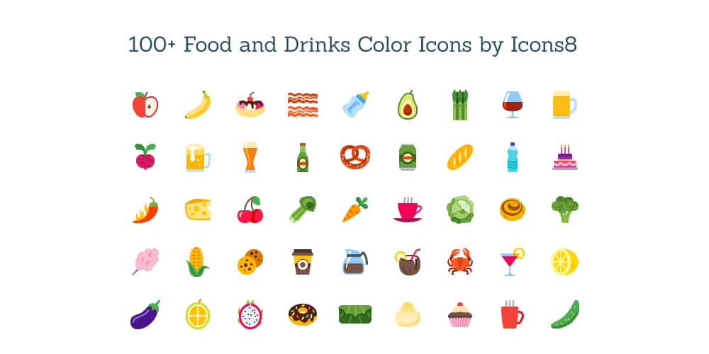 Free Color Food and Drink Icons