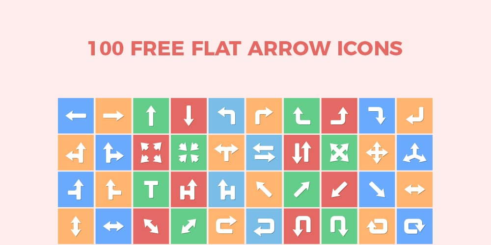 Free Flat Arrow Icons