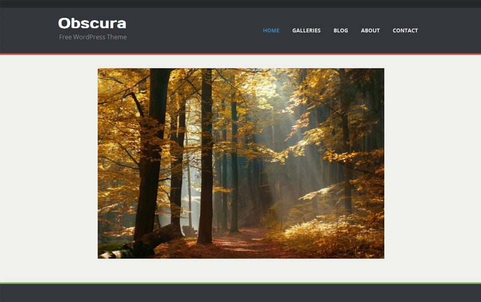 Obscura Free Photography WordPress Theme