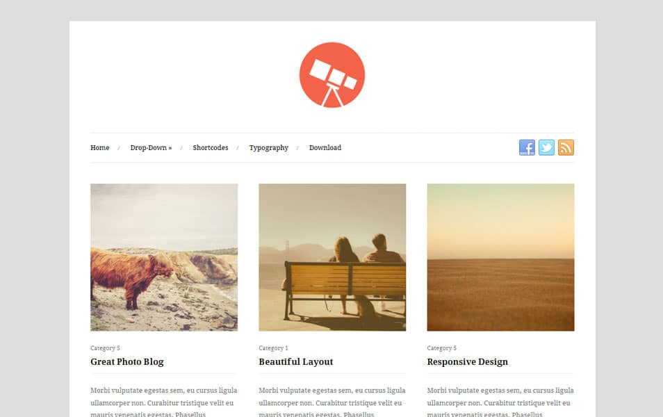 Photo Free Photography WordPress Theme