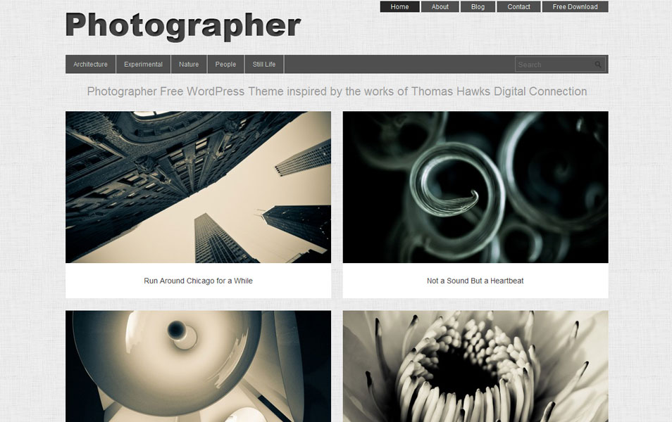 Photographer Free Photography WordPress Theme