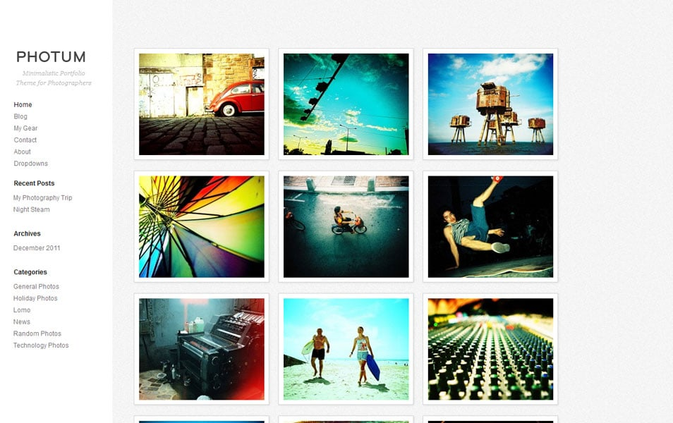 Photum Free Photography WordPress Theme