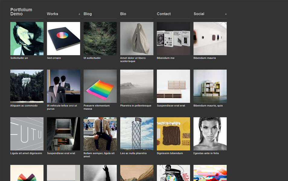 Portfolium Free Photography WordPress Theme